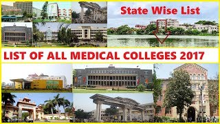 Full List of Medical Colleges in India 2017 (Statewise - Private + Government)