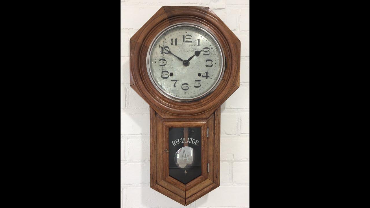 Vintage Original Scientific Regulator Pendulum Chime Wall