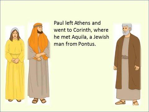 Aquilla And Priscilla Become Christians