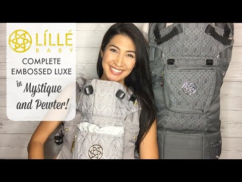 829da3dcb62 The BEST baby carriers ever! Review of LILLEbaby Complete Embossed in  Mystique and Pewter!