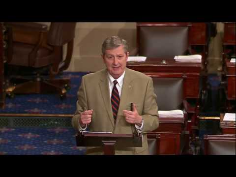 Sen. John Kennedy addressed the Senate on Thursday, July 27, 2017,