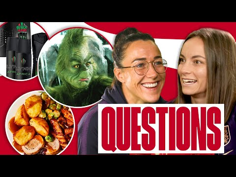 Bronze's Best Present & Staniforth's Dream Xmas Dinner? | Lucy Bronze & Lucy Staniforth | Questions