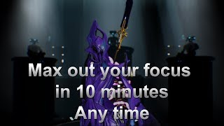 [Focus farming] Max your focus in 10 minutes, any time