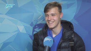 Илья Скроботов на «Зенит-ТВ»: «Оторвался от защитника, подставил голову и мяч влетел в ворота»