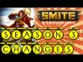 Smite - Season 3 Changes