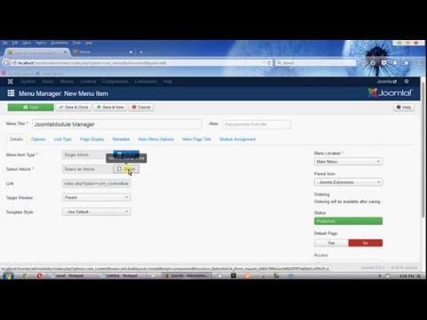 How To Create Menu Dropdown In Joomla