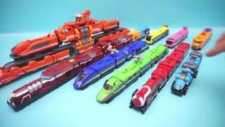 Siêu nhân tàu hỏa đồ chơi-Tổng hợp lắp ráp tất cả các siêu robot(P1)