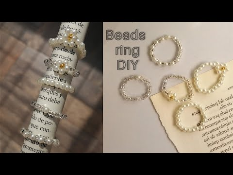 Beads ring DIY | How to make beads ring | Aesthetic beads ring 💍 - YouTube