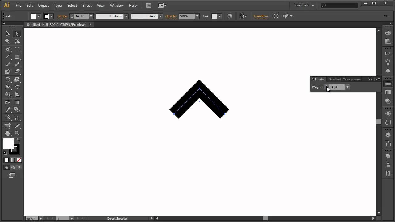 Hollow Arrowhead With Adobe Illustrator Youtube