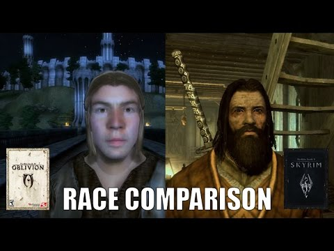 Oblivion vs. Skyrim Races comparison.