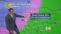 Potential For Rain, Snow Mix; No Accumulation In DFW