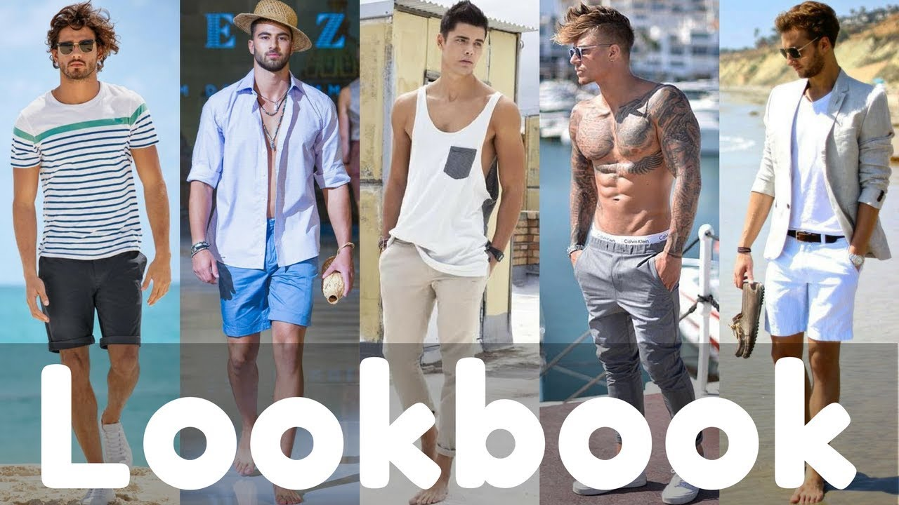 2018 Mens Summer Beach Outfit Ideas Fashion Trend |Summer Menswear Lookbook