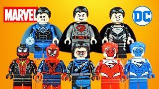 Iron Man Superman & Spider-Man DC & Marvel Unofficial LEGO Minifigures