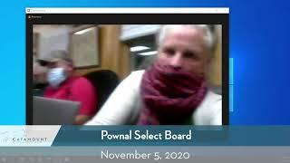 Pownal Select Board // 11-5-20