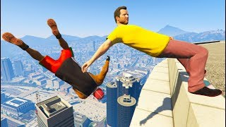 GTA 5 CRAZY JumpsFalls Compilation 6 Grand Theft Auto V Gameplay Moments