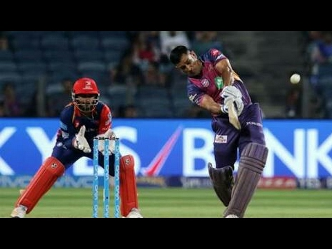 Dhoni magical helicopter shot in IPL RPS...