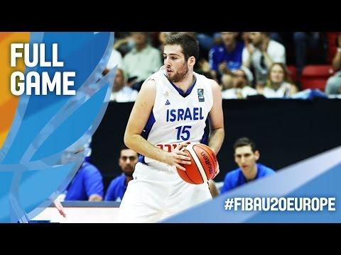 Israel v Belgium - Full Game - CL 9-16 - FIBA U20 European Championship 2016