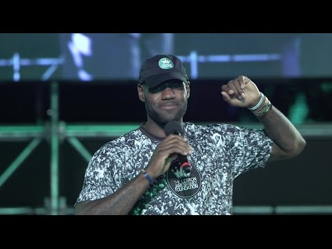 LeBron James addresses his Family Foundation at Cedar Point