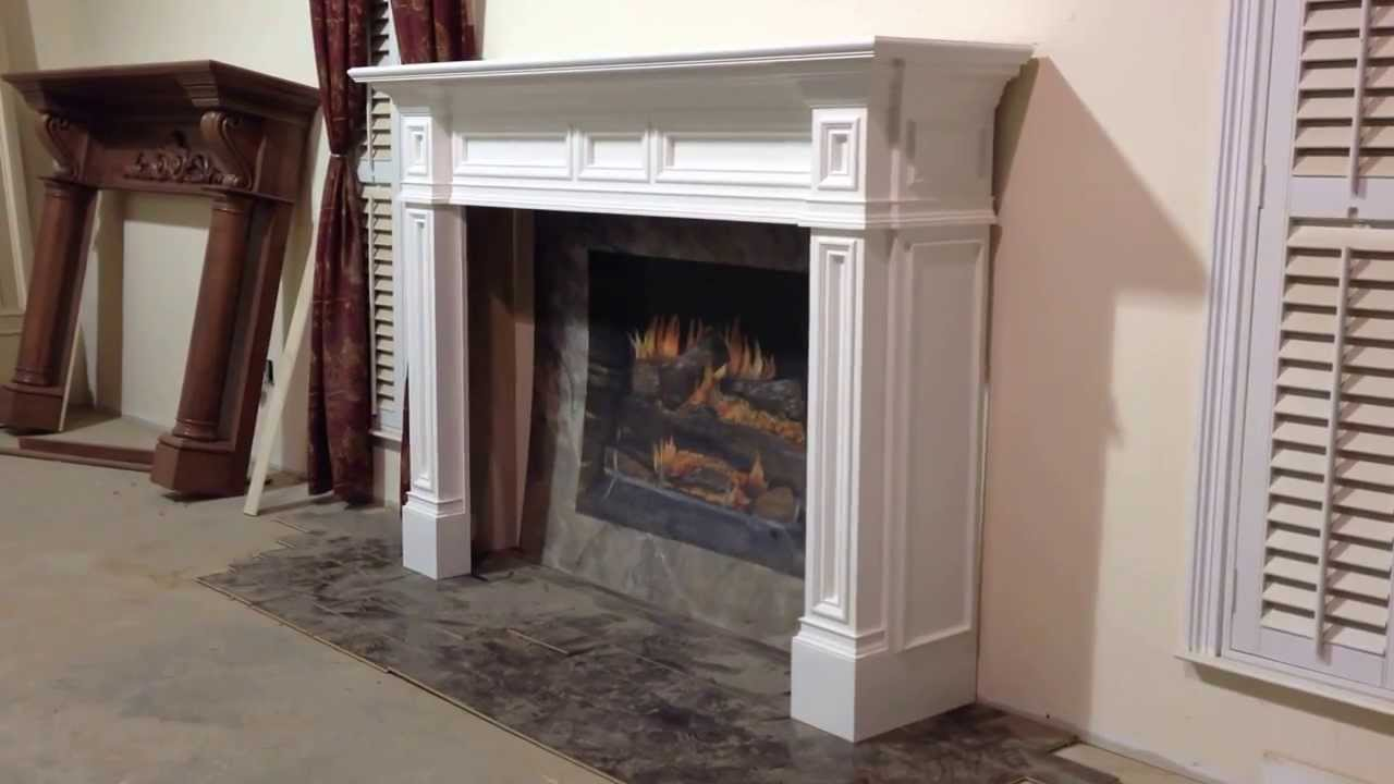 The Fontana Cabinet Style Mantel - Upgraded Shaker Style ...