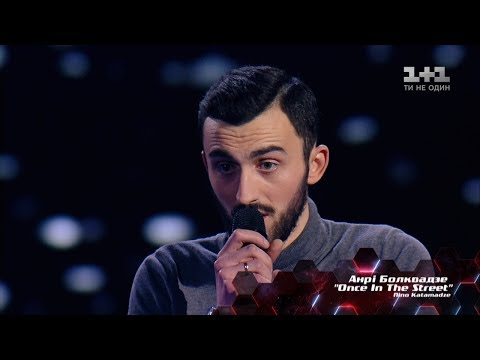 Anri Bolkvadze 'Once In The Street' – Blind Audition – The Voice of Ukraine – season 8