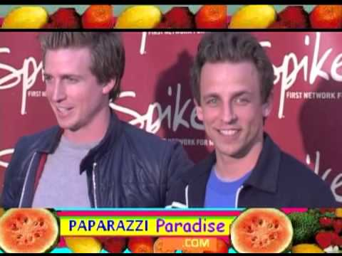 Brothers SETH MEYERS & JOSH MEYERS arrive at 2003 party