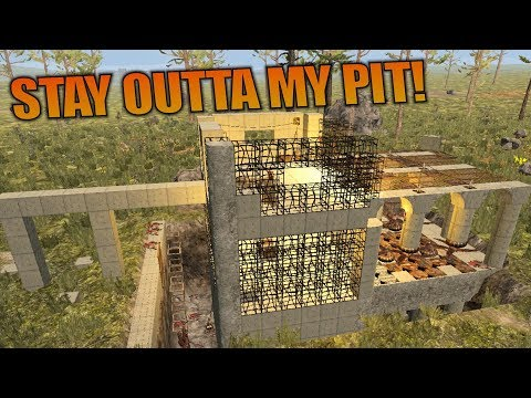 STAY OUTTA MY PIT! | 7 Days to Die | Let's Play Gameplay Alpha 16 | S16.4E29