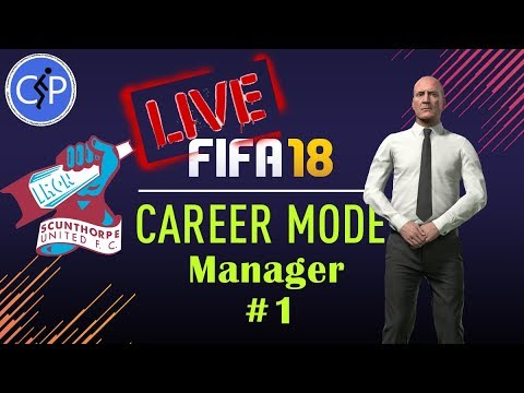 Fifa 18 Career Mode | Scunthorpe Utd Manager  #2  Live
