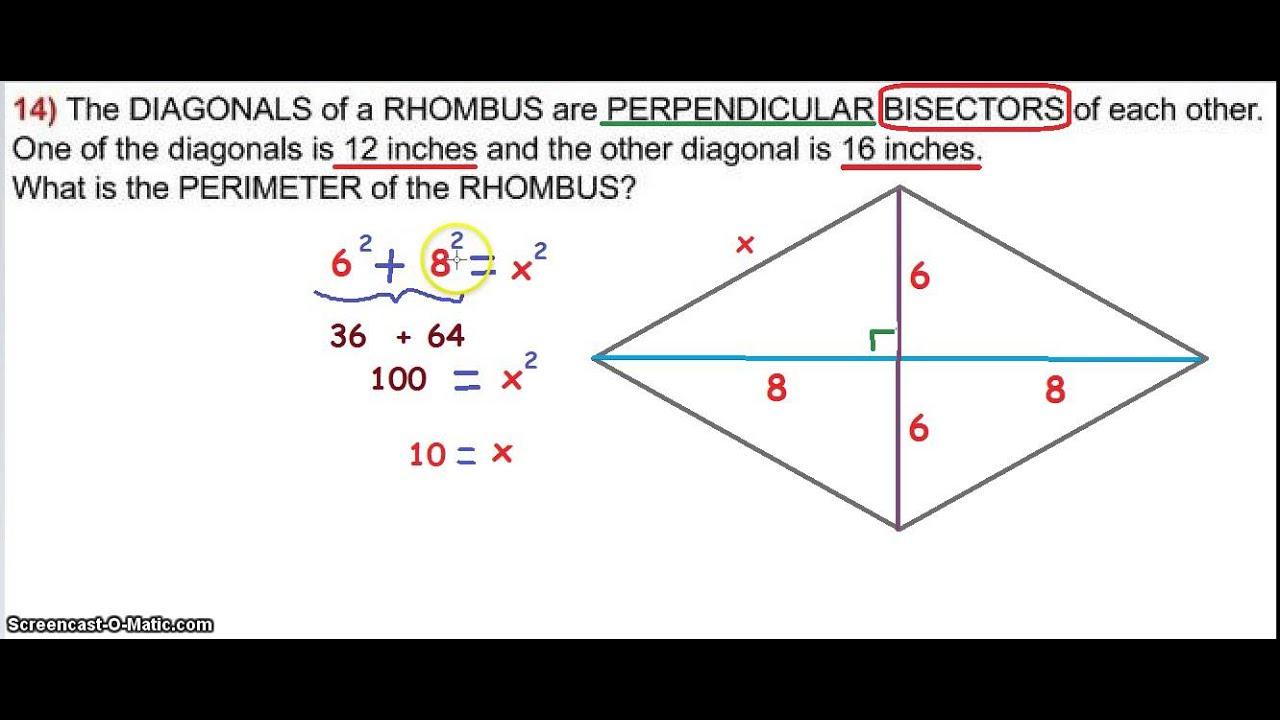 Rhombus diagonals youtube rhombus diagonals ccuart Images