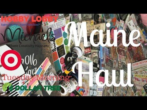 Maine Haul ft. Hobby Lobby, Joann's, Dollar Tree, Target, and Tuesday Morning!!!