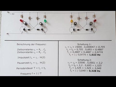 Astabiler Multivibrator - Aufbau, Schaltplan, Schaltzeit & Frequenz
