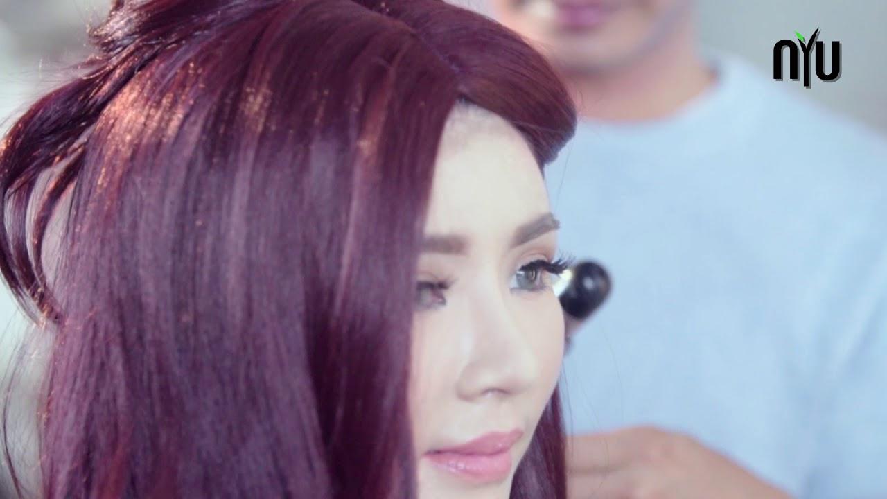 Hair Style Untuk Rambut Warna Burgundy Youtube