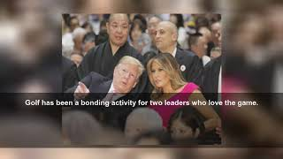 Trump's trophy day of sumo, golf and cheeseburgers in Japan
