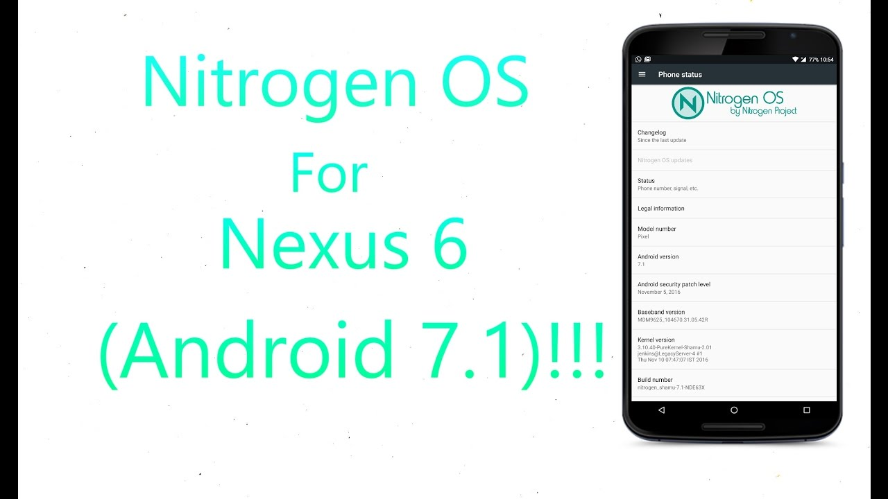 Nitrogen OS N Rom For Nexus 6 (Android 7.1)!!!