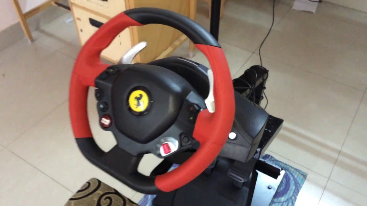diy racing wheel stand for thrustmaster ferrari 458 spider. Black Bedroom Furniture Sets. Home Design Ideas