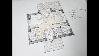 Проект двухэтажного дома на три спальни 118м