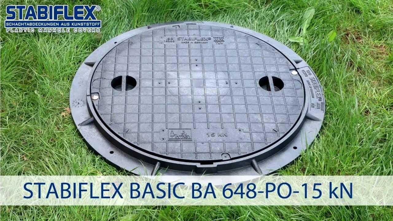 Schachtabdeckung STABIFLEX BASIC DN 600 A 15 kN Einbaufilm ...
