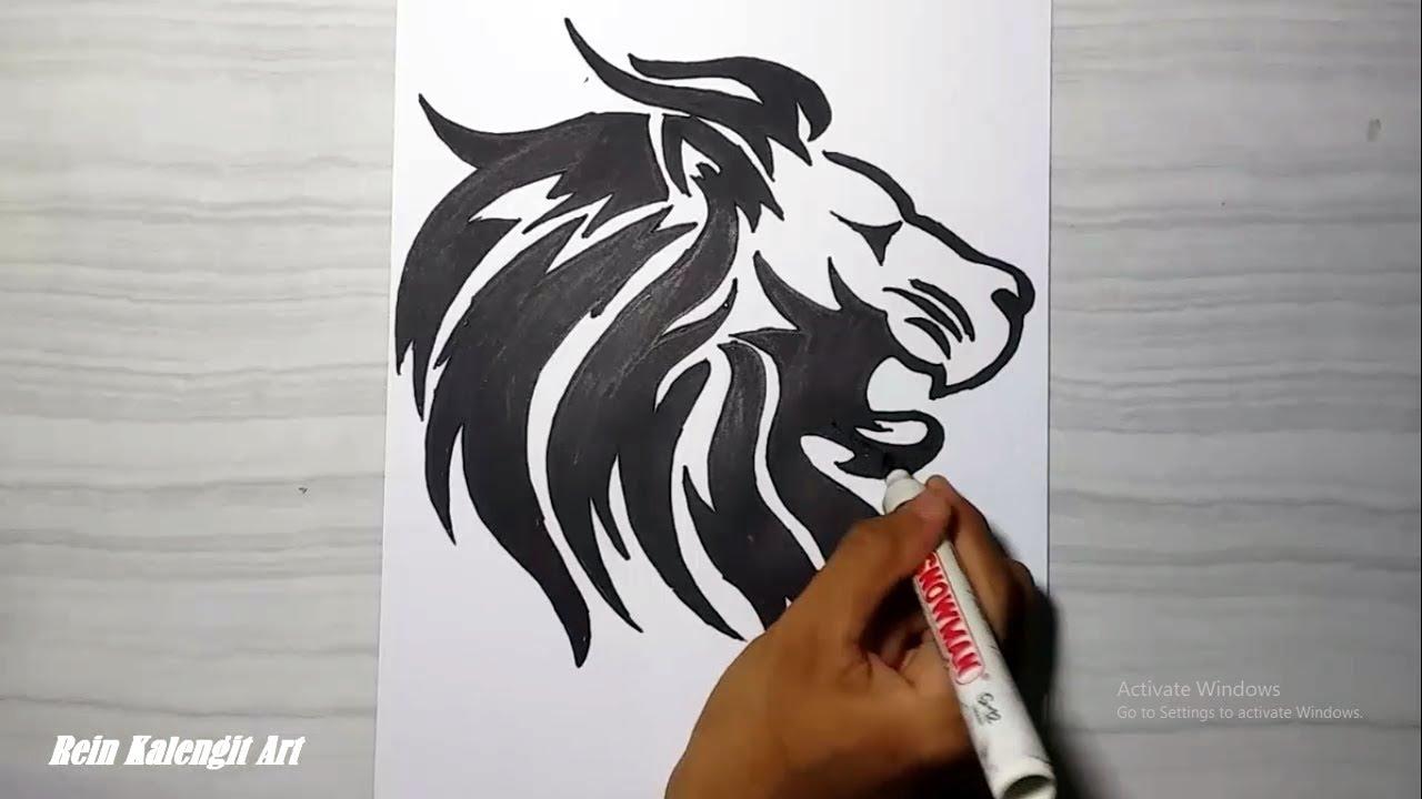 Menggambar Tatto Tribal 8 SINGA Keren