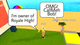 PRETENDING TO BE CallMehBob ON ROBLOX! - Roblox Funny Moments - (Roblox Troll)