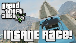 GTA V: STAIRWAY TO HEAVEN! (Grand Theft Auto 5 Funny Moments)