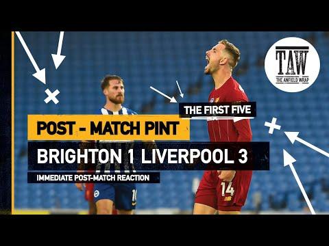 Brighton 1 rpool 3  The Post-Match Pint  Five-Minute Taster