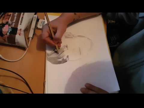 1 Dibujando A Jungkook De Bts Youtube