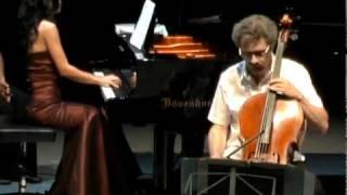Alvaro Bitran cello and Nargiza Kamilova play Beethoven 7 Variations on Magic Flute by Mozart