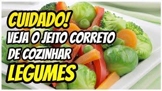 Como cozinhar vegetais sem perder os nutrientes?