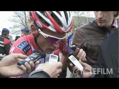 Saxo Bank's Matti Breschel explains Flanders bike change mishap