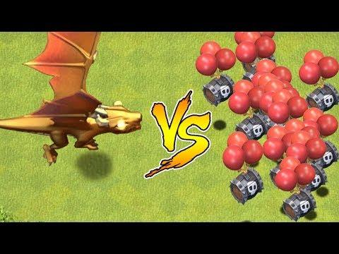 Dragon God vs. New Skeleton barrel troop!!