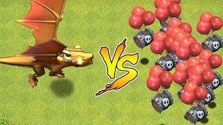 "Dragon God vs. New Skeleton barrel troop!! ""Clash Of Clans"" halloween update!!"