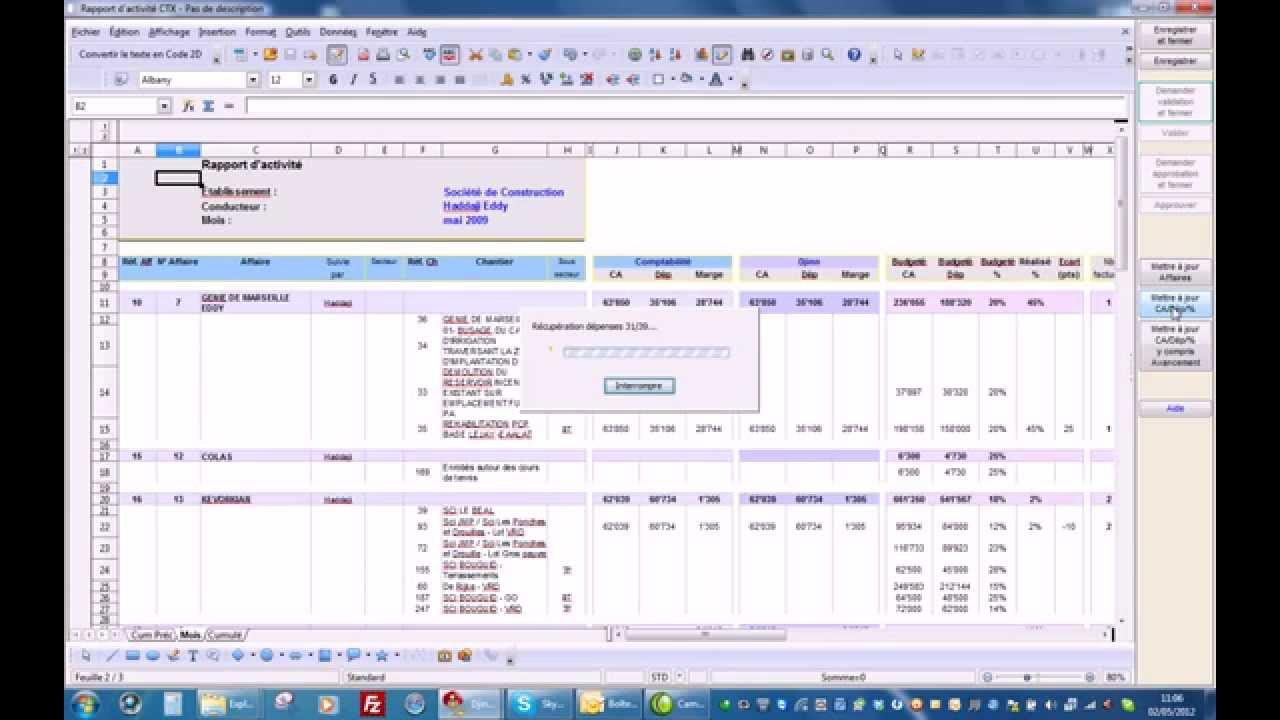 Gut gemocht Gestion des affaires suivi des dépenses chantier Djinn System  JX33