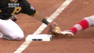 STL@PIT Gm 3: Kozma, Jay move up on a double steal