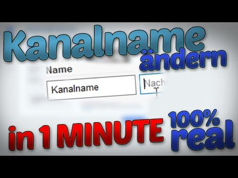 YouTube Namen ändern in 1 MINUTE + auch nach Limit | 100% real!!! | 2018