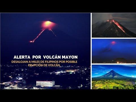 Actividad del volcán Mayon; Desalojan a miles de filipinos por posible erupción del volcán